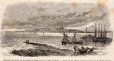 CRES CHERSO VEGLIA KRK ILE ISLAND COTE CROATIE CROATIA IMAGE 1876 ENGRAVING
