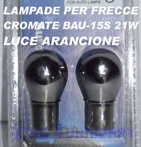 Light Bulbs Chrome For Indicators BAU-15S PY21W BAU15s 12V