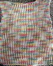 HAND KNITTED LADIES MULTI-COLORED SLEEVELESS COTTON TOP