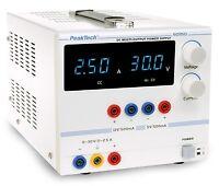 PeakTech 6035 D Digital Labornetzgerät 0-30 V/0 - 2,5 A DC, 5/12 V/0,5 A fest