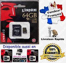 90 MB/s KINGSTON Micro SD SDXC 64 Go Carte Mémoire Class 10 dispo aussi 16 32 Gb