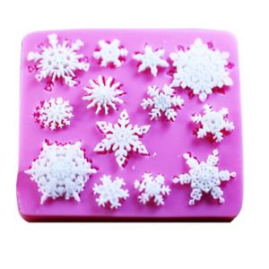 Christmas Snowflake Silicone Fondant Mould Cake Decorating Baking Chocolate Gift