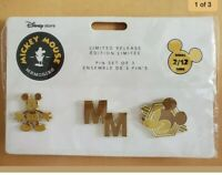 Disney Memories Mickey Mouse Pin Set With Card - February Limited Edition 2/12