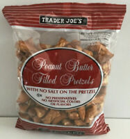 VALUE 4 PACK Trader Joes NO SALT Peanut Butter Filled Pretzels Snack 16oz