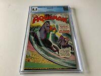AQUAMAN 12 CGC 8.5 WHITE PAGES AQUALAD DC COMICS 1963