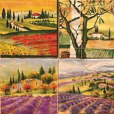 set of 4 DESIGNS PAPER NAPKINS COLLECTION for DECOUPAGE Toscana Provence