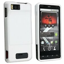 Hard Rubberized Case for Droid X MB810 - White