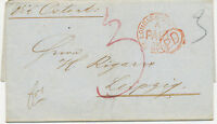 "2422 1871 superb Ship Post entire with rare ""LOMBARD-STREET / PAID"" CDS in red"