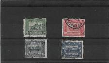 ERITREA 1910 PLOUGHING & GOVERNMENT PALACE,MASSAWA SET {5,10,15,25c} NICE USED