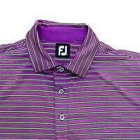 Footjoy Golf Polo Shirt Men's Large Gradient Purple Performance Short Sleeve