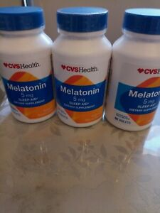 Lot/3 CVS Melatonin 5mg Sleep Aid total- 180 tablets  exp-3/20 Sealed new