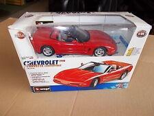 Chevrolet Corvette C5 Cabrio 1/24 Burago fertiger Metallbausatz 59760 in Verpacu