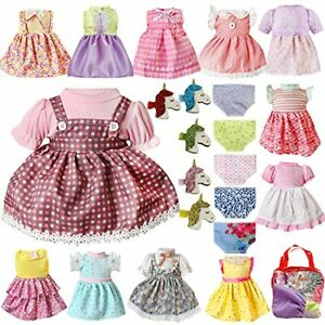 Doll Clothes Outfits for Alive Baby Doll Clothing Fits 13 14 15 16 Inch 22 Pcs