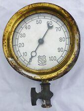 Antique Ashcroft Gauge Steam Engine Ship Railroad UNKNOWN 9395B115 Steampunk
