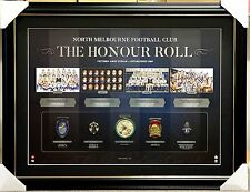 NORTH MELBOURNE HONOUR ROLL OFFICIAL AFL PRINT FRAMED - REPLICA MEDALS BROWNLOW