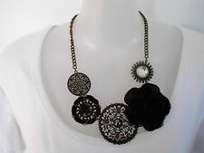 SALE Black and Antique Gold Statement Necklace - Diva was $14.95 NOW $10