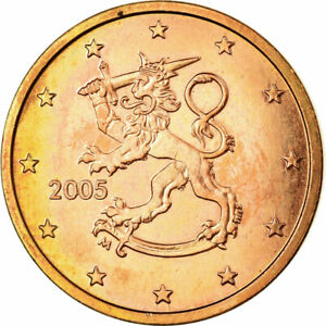 [#724008] Finlande, 5 Euro Cent, 2005, SUP, Copper Plated Steel, KM:100