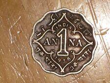 British India 1936 Anna coin Very Fine nice