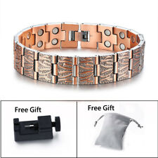 Retro Design Men Health Copper Magnetic Therapy Bracelet Arthritic Pain Relief