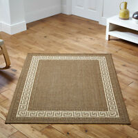 Kitchen hall  mat rug gel backing washable flat weave sisal seagrass