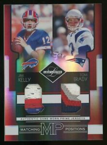 2006 Leaf Limited Matching Positions Jim Kelly Tom Brady Dual Patch 8/25