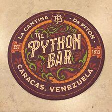 Jock Lindsey's Hangar Bar Venezuela Python Bar Coaster Disney Indiana Jones