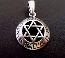 Jewish Star of Magen David Pendant Shma Israel # sterling silver 925 Judaica