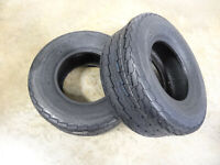 TWO New 12PLY 20.5X8.0-10 Deestone D268 Trailer Tires 20.5X8.00-10 w/free stems