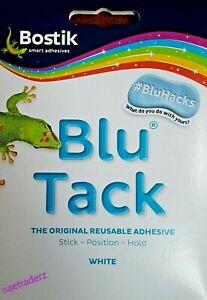 Bostik Blu Tack Original Reusable Adhesive Handy Wallet Size White ( UK SELLER )