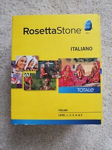 Rosetta Stone Italian Level 1-5 Set with Audio Companion for PC, Mac