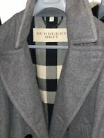 BURBERRY BRIT Men's Eckford Gray Wool Pea Coat Sz XL