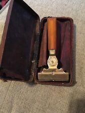 Vintage Schick Injector Razor in Case - Caramel Bakelite Handle