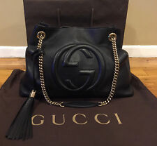 8e933559da6382 *Authentic* GUCCI Soho Chain Black Leather Shoulder Bag