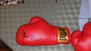 Thomas Hearns Signed Everlast Boxing Glove TRISTAR STICKER Only