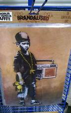 3D Lenticulaire Image Banksy Garçon Avec Danse Tapis Taille 39 x 29 cm environ