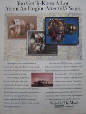 11/1992 PUB TEXTRON LYCOMING LF507 TURBOFAN ALF502 PLF1A AIRLINER ORIGINAL AD