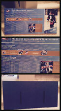 HHOF Hockey Hall of Fame Display Piece Columbus Blue Jackets AHL Affiliate Chart