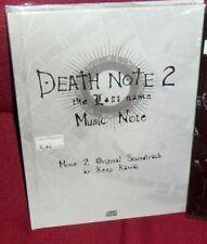 CD FILM MANGA LIVE MOVIE 2 SOUNDTRACK KENJI KAWAI-DEATH NOTE THE LAST NAME MUSIC