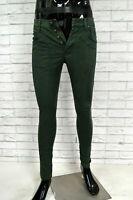 Pantalone Uomo JECKERSON Taglia 29 Pants Man Verde Elastico Jeans Slim Fit Homme