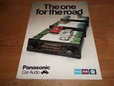 Brochure Panasonic Car Audio Audi VW The One For The Road Radio Speakers c1981