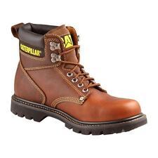 "Caterpillar P72365 Men's CAT Second Shift 6"" Brown Soft Toe Work Boots Size 9.5"