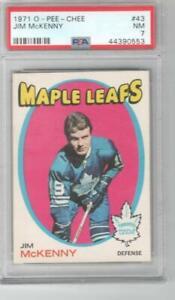 1971 OPC O-Pee-Chee # 43 PSA 7 Jim McKenny Rookie Toronto Maple Leafs