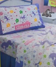 ~ Saddle Club - HORSE SINGLE BED FITTED & FLAT + PILLOW CASE SHEET SET