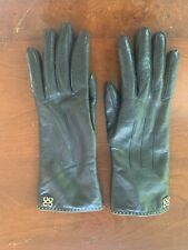 Coach Womens Winter Leather Gloves with wool lining