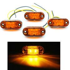4x LED Front Side Marker Light Truck Van Trailer Indicators 12V 24V Red Amber Wh