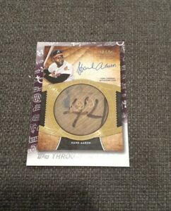 2021 Topps Series 1 Through The Years Hank Aaron 2017 Tier One Auto bat Knob!!!