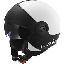 Jet Open Face Motorcycle Bike Helmet LS2 Cabrio Via Of597 White-black Matt Size