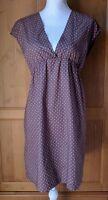 GARNET HILL Dress Womens 4P Empire Waist Sleeveless Polka Dot Plum Cotton EUC