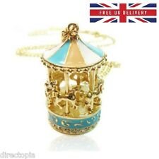 Carousel Horse Merry Go Round Carnival Pendant Necklace & Gift Bag
