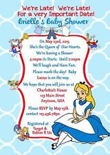 Alice in Wonderland Baby Shower, Invitation, Shower, Alice in Wonderland